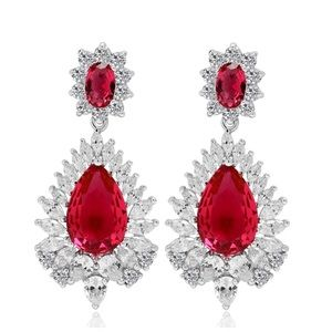 Jewelry - Swarovski Crystals The Salma Red Earrings S23